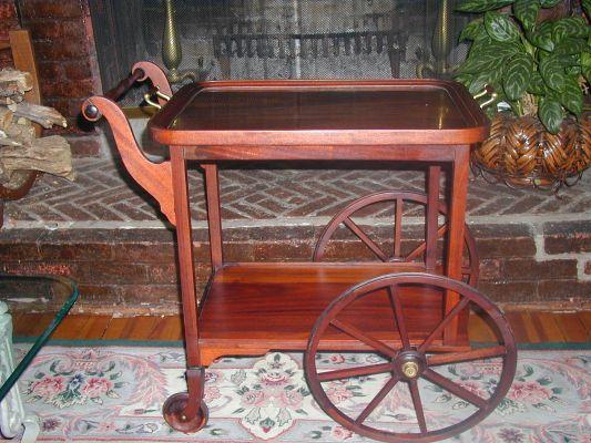 Antique Wooden Tea Cart Antiques Center